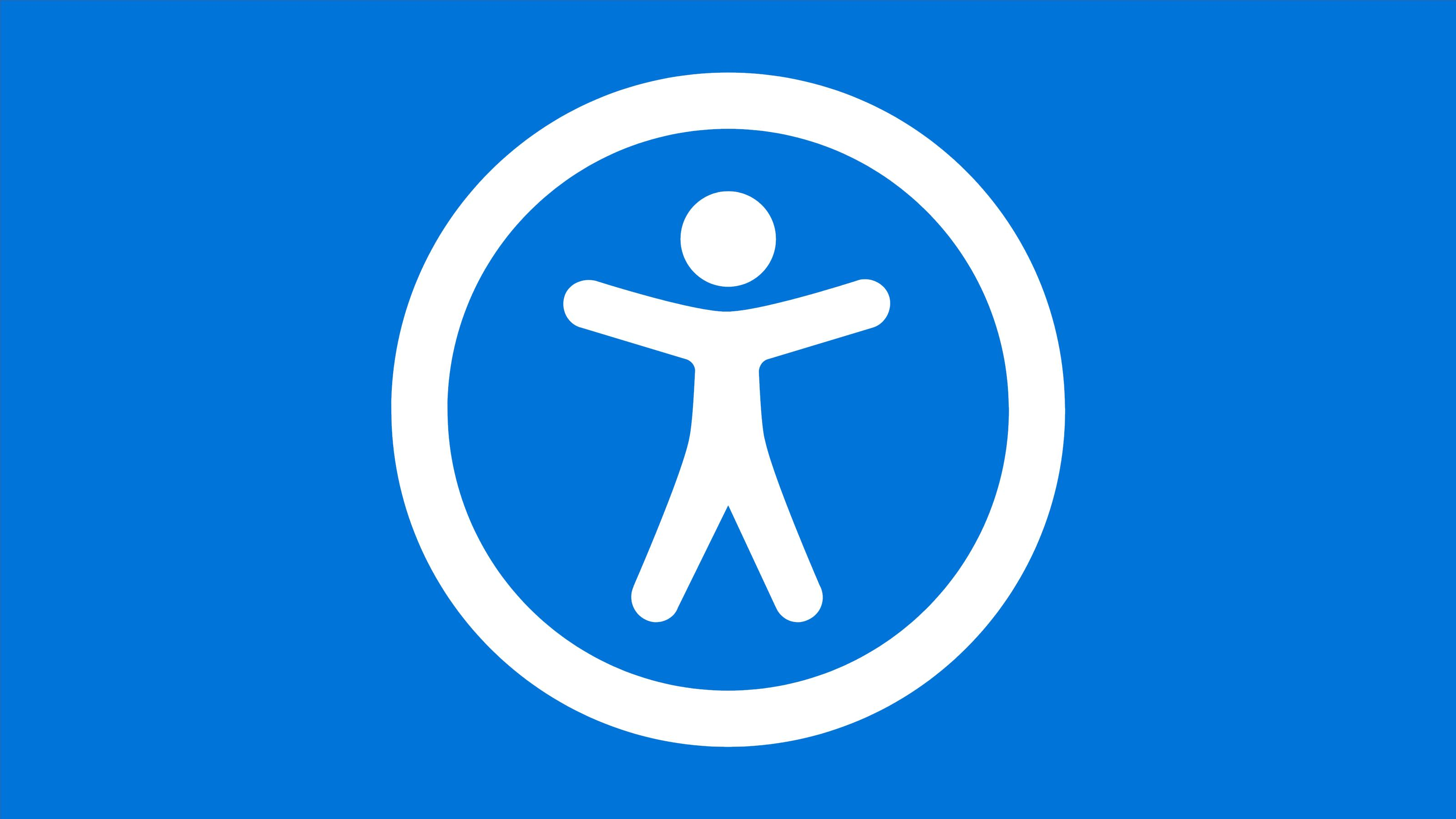 Universal access icon: a stick figure with a circle around them